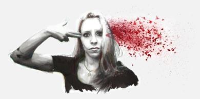 Kill those fucking thoughts and learn to fly|DibujodeMentiradeloro| Compra arte en Flecha.es