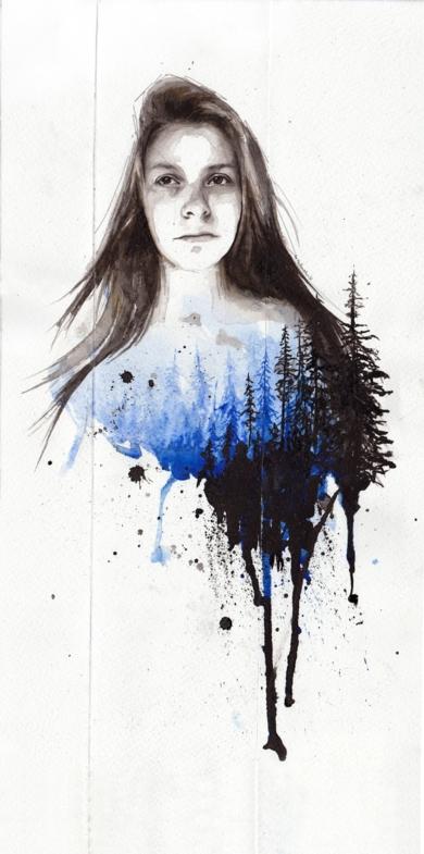 Breathe|DibujodeMentiradeloro| Compra arte en Flecha.es