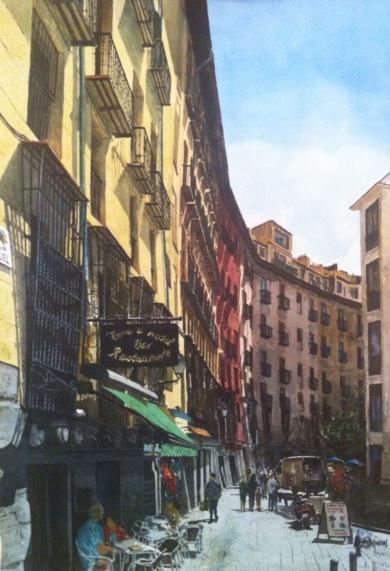 calle Cava de San Miguel, Madrid|PinturadePedro Higueras| Compra arte en Flecha.es