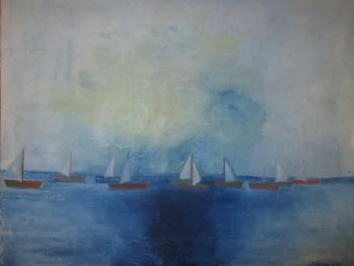El mar|Pinturadeleon valkin| Compra arte en Flecha.es