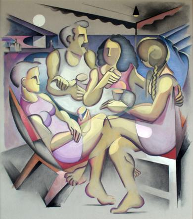 Amigos|PinturadeMiguel Mansanet| Compra arte en Flecha.es