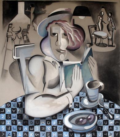Mantel de letras|PinturadeMiguel Mansanet| Compra arte en Flecha.es