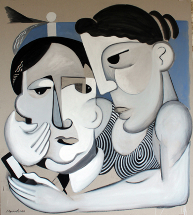 Pareja XXI|PinturadeMiguel Mansanet| Compra arte en Flecha.es