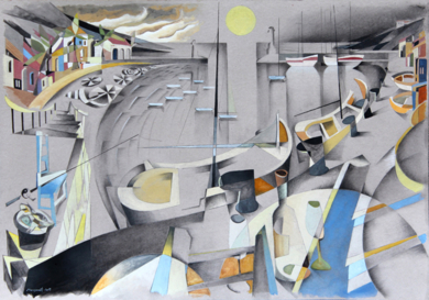 puerto I|PinturadeMiguel Mansanet| Compra arte en Flecha.es