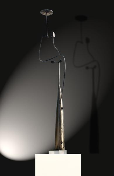 mujer con sombrilla|EsculturadeMiguel Mansanet| Compra arte en Flecha.es