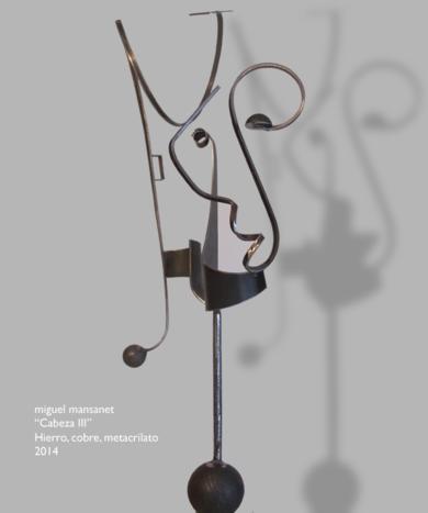 cabeza III|EsculturadeMiguel Mansanet| Compra arte en Flecha.es