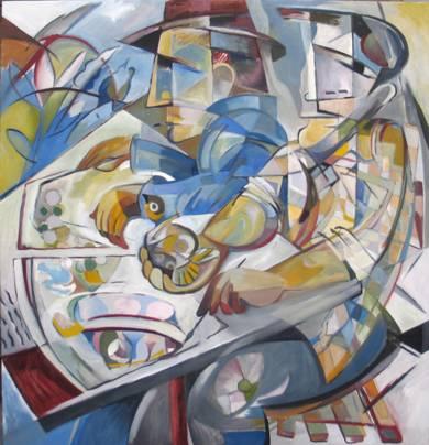 dos pintores|PinturadeMiguel Mansanet| Compra arte en Flecha.es