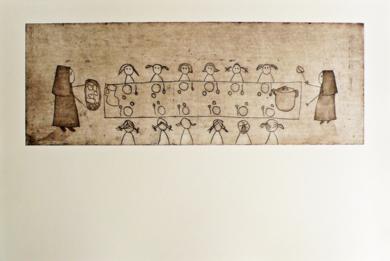 El comedor|Obra gráficadeAna Valenciano| Compra arte en Flecha.es