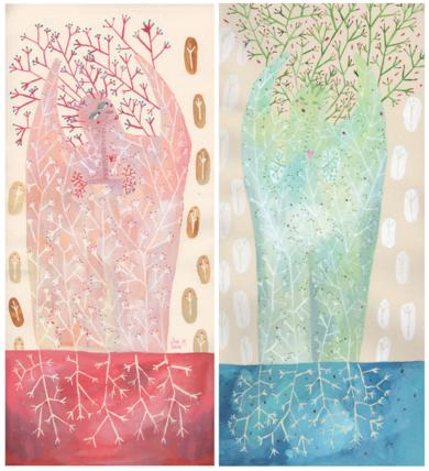 Cálidos veranos, gélidas mañanas|DibujodeAna Suárez| Compra arte en Flecha.es
