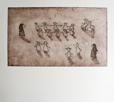 El recreo|Obra gráficadeAna Valenciano| Compra arte en Flecha.es