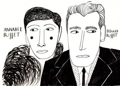 Annabel & Bernard Buffet|DibujodeInma Lorente| Compra arte en Flecha.es