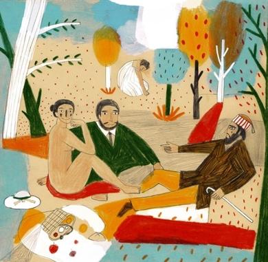 Desayuno campestre|DibujodeInma Lorente| Compra arte en Flecha.es