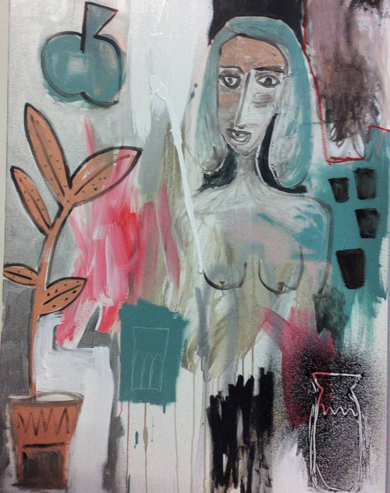 That girl surrounded by things,|PinturadeAlmudena  Blanco| Compra arte en Flecha.es
