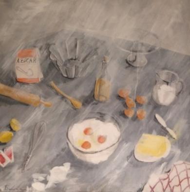 Amasando el pastel|PinturadeLola Barcia Albacar| Compra arte en Flecha.es