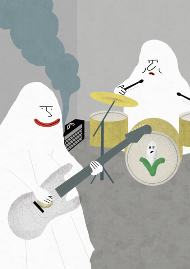 Fantasmas musicales|DibujodeElena Éper| Compra arte en Flecha.es