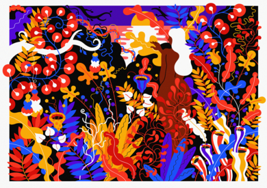 Le Mythe du Bon Sauvage|DibujodeLouis Grosperrin| Compra arte en Flecha.es
