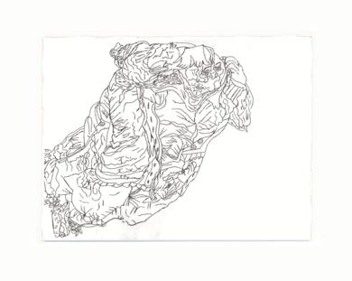 Mujer dormida|DibujodeAlicia Herrera| Compra arte en Flecha.es