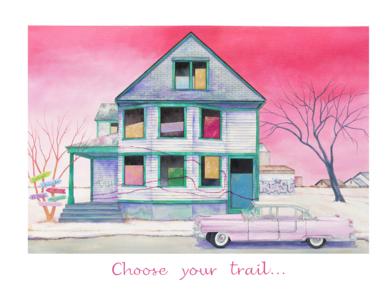 Choose Your Trail|IlustracióndeRosa Alamo| Compra arte en Flecha.es