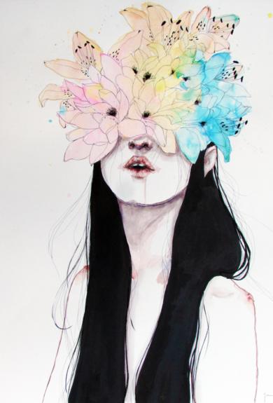 FLOWERING ORGASM|IlustracióndeJaume Mora| Compra arte en Flecha.es