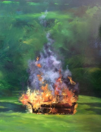 El sofá de mamá|PinturadePatricia Mateo| Compra arte en Flecha.es