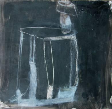 Mesa y lámpara|DibujodeÁlvaro Marzán| Compra arte en Flecha.es