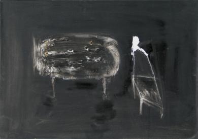 Mesa y silla|PinturadeÁlvaro Marzán| Compra arte en Flecha.es
