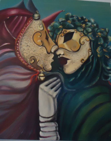 EL beso|PinturadeH Beatrice| Compra arte en Flecha.es