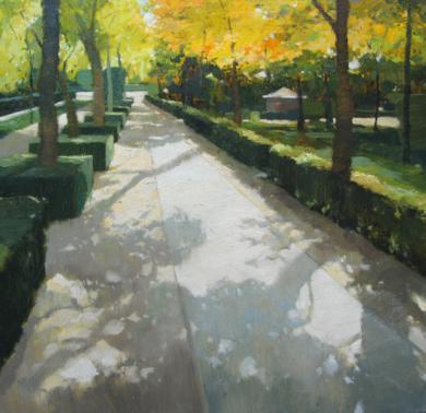 Entrando al Retiro II|PinturadeJuan Manuel Campos Guisado| Compra arte en Flecha.es