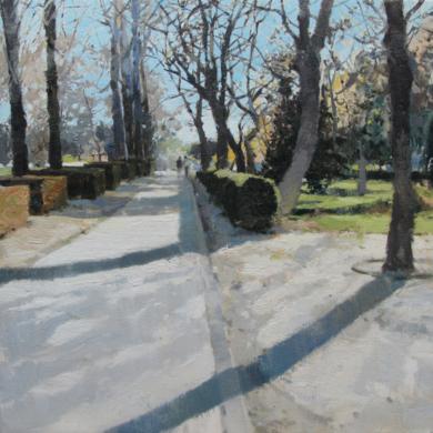 Entrando al Retiro III|PinturadeJuan Manuel Campos Guisado| Compra arte en Flecha.es