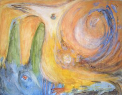 El Lobito Azul|PinturadeJaelius Aguirre| Compra arte en Flecha.es