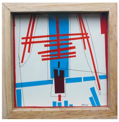 No pixel rojo|CollagedeFabiana Zapata| Compra arte en Flecha.es