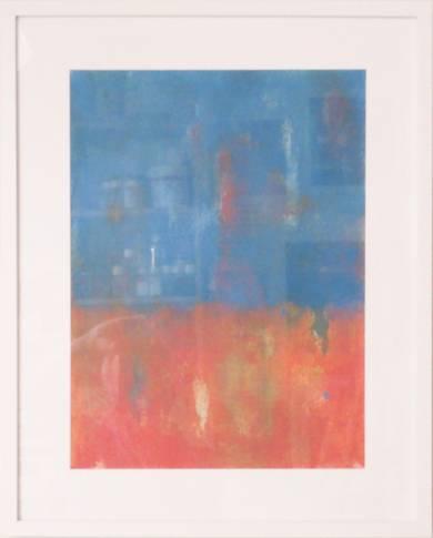 Blue and orange|PinturadeLuis Medina| Compra arte en Flecha.es