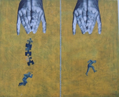 EN IGUALDAD DE CONDICIONES|CollagedeMerche Chia| Compra arte en Flecha.es