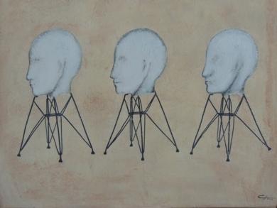 DANDO EL PERFIL|CollagedeMerche Chia| Compra arte en Flecha.es