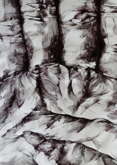 Palma de la mano.|DibujodeBea Juan| Compra arte en Flecha.es
