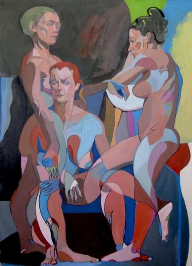 La reunión|PinturadeNader| Compra arte en Flecha.es