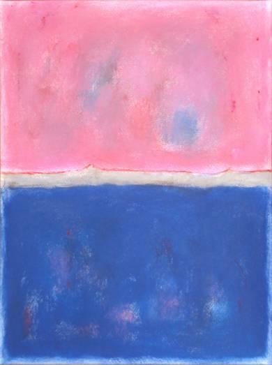 Pink and blue composition|PinturadeLuis Medina| Compra arte en Flecha.es