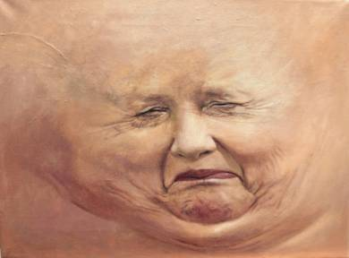 Trozos de Carne: Ángela Merkel|PinturadeErick Miraval| Compra arte en Flecha.es