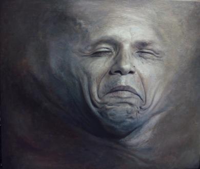 SKINSCAPE-Trozos de Carne: Barack Obama PinturadeErick Miraval  Compra arte en Flecha.es