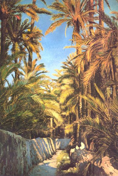 Camino entre huertos|PinturadeVictor Candela| Compra arte en Flecha.es