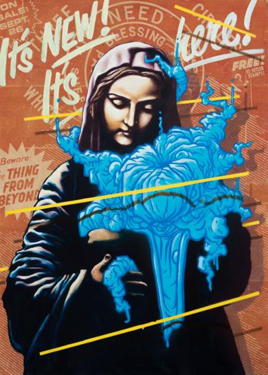 It's New, It's Here!|Obra gráficadeSr. X| Compra arte en Flecha.es