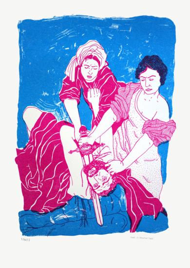 ARTEMISIA GENTILESCHI II|IlustracióndeMar Estrama| Compra arte en Flecha.es