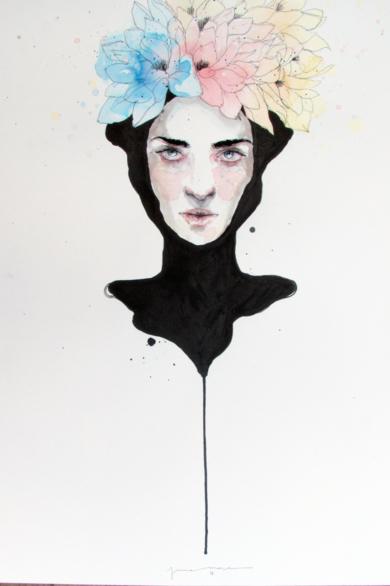 NERO|IlustracióndeJaume Mora| Compra arte en Flecha.es