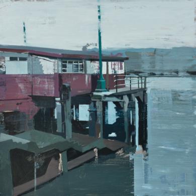 Anochecer en Erandio|PinturadeGonzalo Rodríguez| Compra arte en Flecha.es
