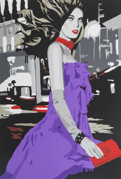 The night in Paris|Obra gráficadeSilvia Papas| Compra arte en Flecha.es