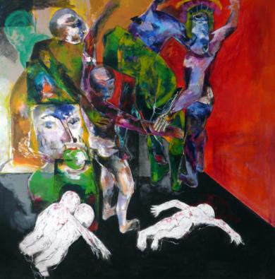 El  poder de la madre|PinturadeJavier Paniagua| Compra arte en Flecha.es