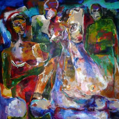 La mirada|PinturadeJavier Paniagua| Compra arte en Flecha.es