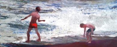 Tirando piedras|PinturadeCarmen Montero| Compra arte en Flecha.es