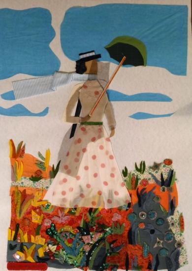 La sombrilla de Monet|CollagedeRuth Álvarez| Compra arte en Flecha.es