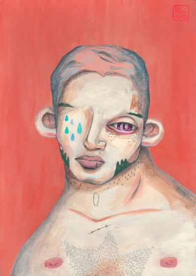 La cicatriz es mía, las lágrimas tuyas|DibujodeBran Sólo| Compra arte en Flecha.es